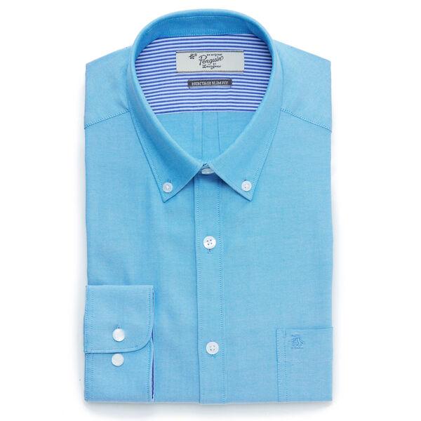 SOLID DRESS SHIRT, Cobalt, hi-res