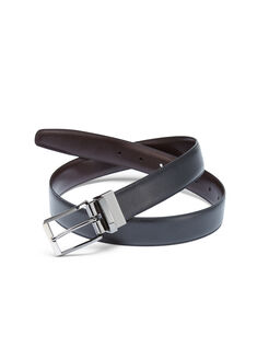 Mr. Pebble Leather Belt, Black, hi-res