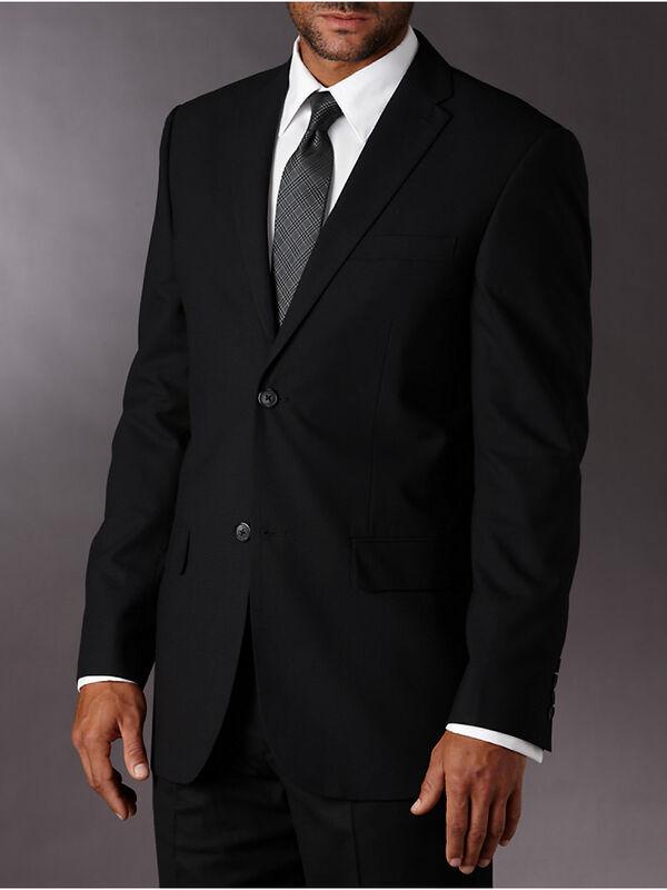 Textured Plaid Classic Fit Suit Jacket, , hi-res