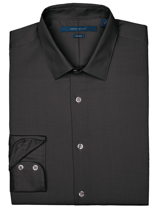 Non-Iron Essential Shirt, Black, hi-res