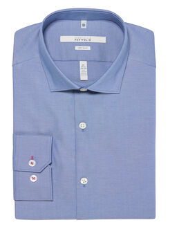 Very Slim Fit Solid Oxford Dress Shirt, Coastal Fjord, hi-res