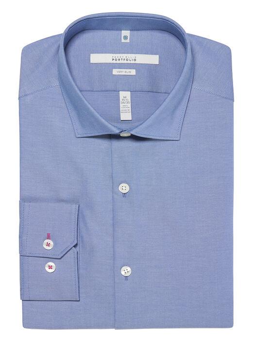 Very Slim Fit Solid Oxford Dress Shirt, Coastal Fjord, hi-res