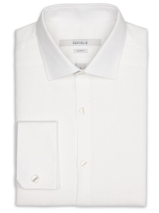 Slim Fit French Cuff Portfolio Dress Shirt, Bright White, hi-res