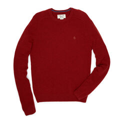 P55  LAMBSWOOL CREW NECK SWEATER, Rosewood, hi-res