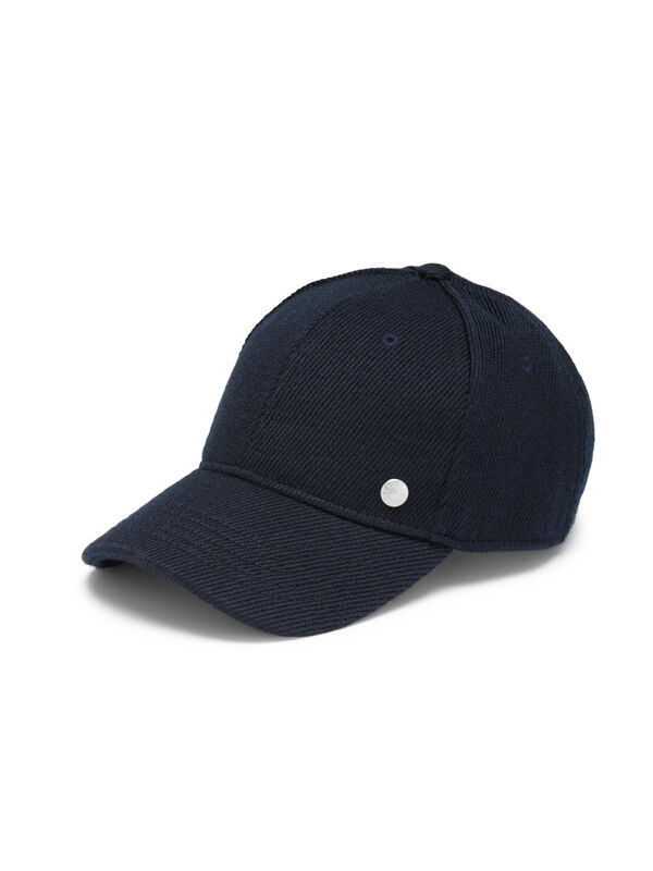 Wool Suiting Baseball Cap, Blue, hi-res