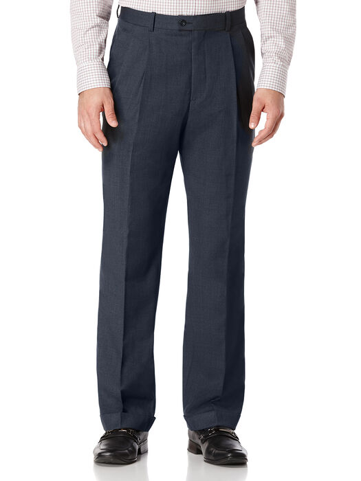 Double Pleated Classic Fit Portfolio Pant, , hi-res