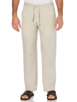 "Drawstring Linen Pant - 32"" Inseam, Natural Linen, hi-res"