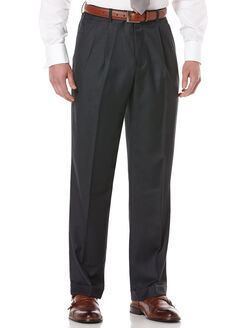 Double Pleated Classic Fit Portfolio Pant, Patriot, hi-res