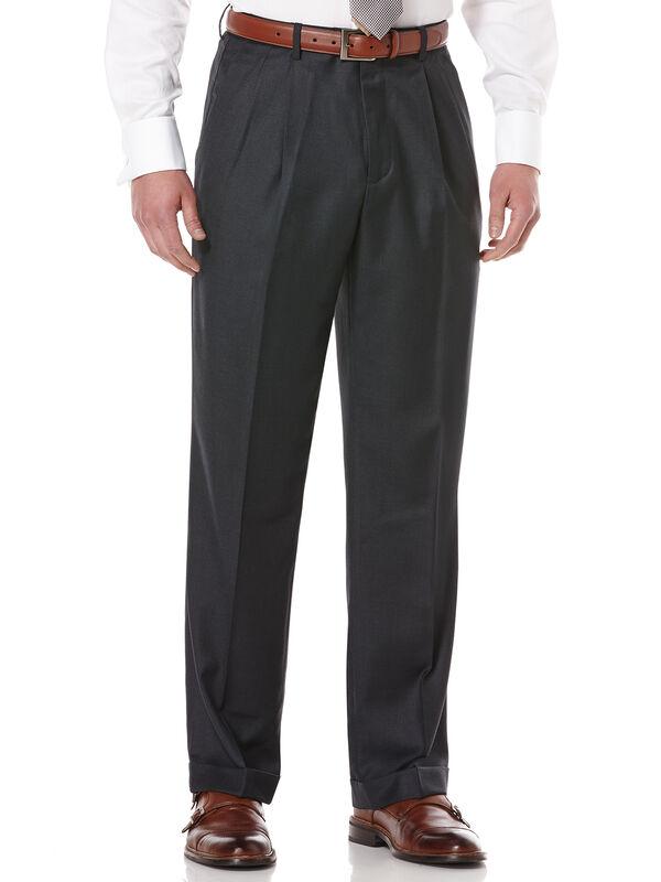 Men S Double Pleated Classic Fit Portfolio Pants Perry Ellis