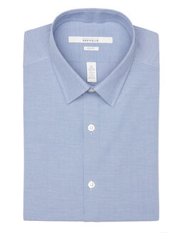 Slim Fit Birdseye Portfolio Dress Shirt, Colony Blue, hi-res