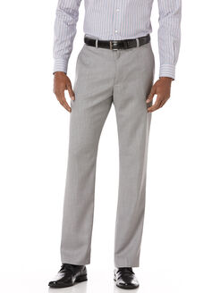 Big and Tall Textured Suit Pant, Brushed Nickel, hi-res