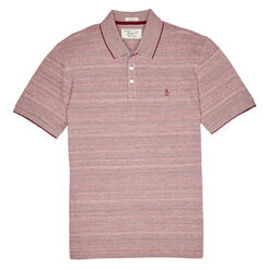 ALLOVER NOVELTY JACQUARD POLO, Pomegranate, hi-res