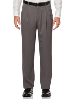 Double Pleated Melange Portfolio Pant, Grey Heather, hi-res