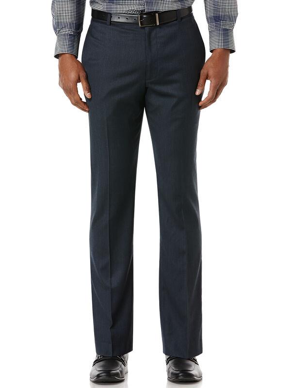 Solid Herringbone Flat Front Dress Pant, Bay Blue, hi-res
