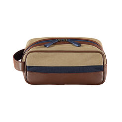 CANVAS AND LEATHER DOPP KIT, Rubber, hi-res