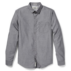 DOBBY CHAMBRAY SHIRT, True Black, hi-res