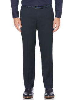 Slim Fit Textured Portfolio Dress Pant, Navy, hi-res