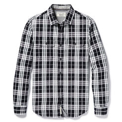SLUB PLAID SHIRT, True Black, hi-res