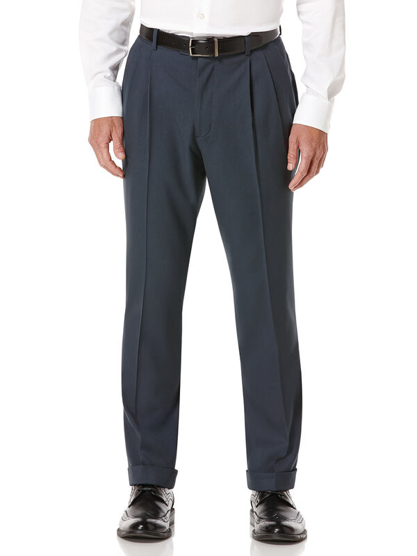 Pleated Solid Portfolio Pant, Slate, hi-res