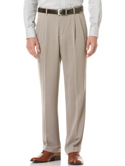 Double Pleated Melange Portfolio Pant, Simply Taupe, hi-res