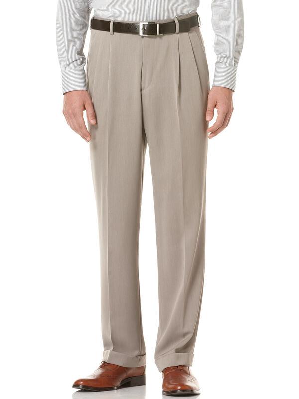 Double Pleated Melange Portfolio Pant, Simply Taupe, hi-res