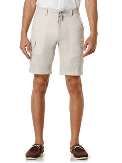 Linen Chambray Cargo Short, Simply Taupe, hi-res