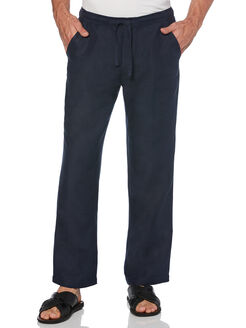 "Drawstring Linen Pant - 32"" Inseam, Dress Blues, hi-res"