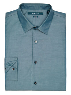 Big and Tall Non-Iron Luxury Iridescent Shirt, Blue Pond, hi-res