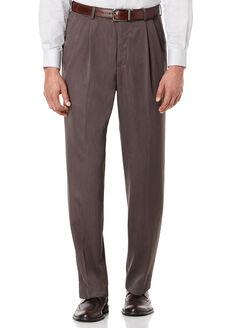 Double Pleated Melange Portfolio Pant, Maple Brown, hi-res