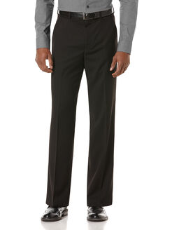 Classic Fit Textured Solid Suit Pant, Black, hi-res