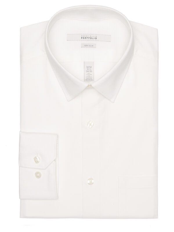 Very Slim Horizontal Stripe Dress Shirt, Bright White, hi-res
