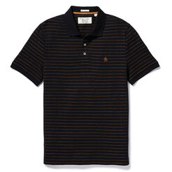 JACQUARD STRIPE POLO, True Black, hi-res