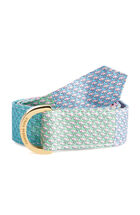 Classic Whale Patchwork D-Ring Belt
