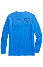 Long-Sleeve Vintage Whale Performance T-Shirt