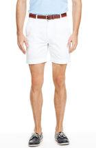 7 Inch White Summer Twill Breaker Shorts
