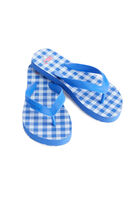 Girls Printed Gingham Flip Flops