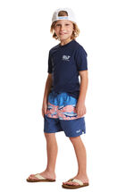 Boys Pieced Tropical Bungalow Shorts