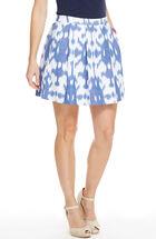 Ikat Pleated Pocket Skirt