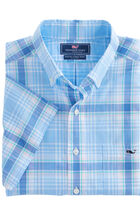 Hamblin Plaid Short-Sleeve Slim Tucker Shirt