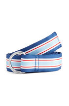 Menemsha Stripe Ribbon D-Ring Belt