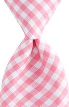 Corozo Gingham Woven Tie