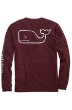 Long-Sleeve Vintage Whale Heather Pocket T-Shirt