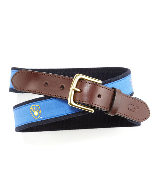 Milwaukee Brewers Canvas Club Belts