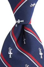 America's Cup Logo Stripe Woven Tie