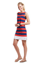 Terry Stripe Sleeveless Dress