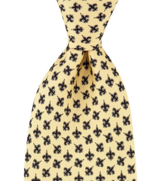 Men S Ties New Orleans Saints Printed Silk Tie For Men Vineyard Vines