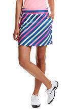 Bold Stripe Print Golf Skort