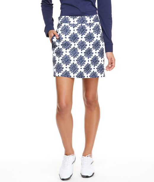 Medallion Print Golf Skort