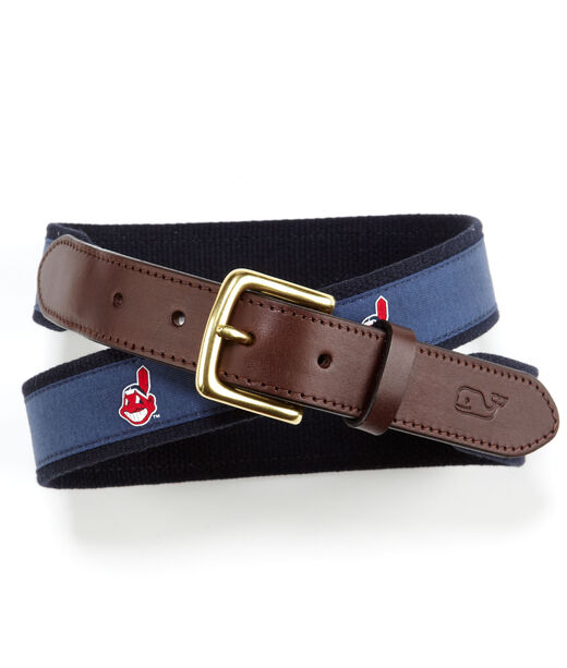 Cleveland Indians Canvas Club Belt