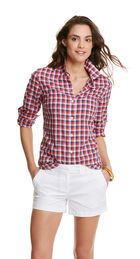 3 Color Gingham Button Down